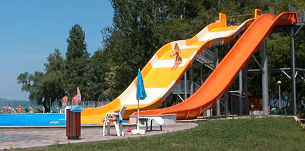 Water slide at Balatonboglar